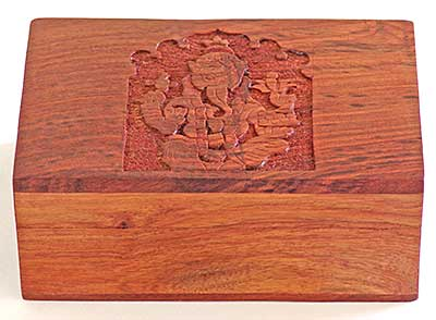 Ganesh Hand Carved Wooden Box