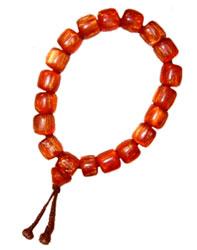 Carnelian Colored Acrylic Bracelet