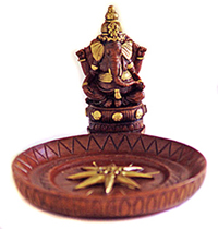Ganesh Polyresin Incense Burner – Round