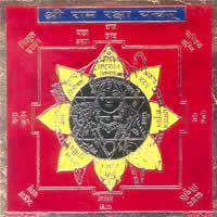 Ram Raksha Colored Copper Yantra