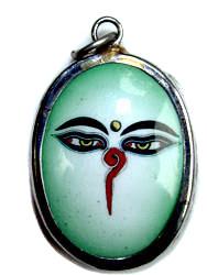 Buddha Eyes Enamel Pendant