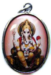 Ganesh Enamel Pendant