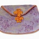 Silk Dragon Lotus Mala Bag – Lavender
