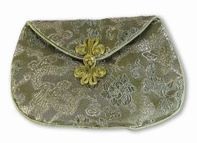 Silk Dragon Lotus Mala Bag – Sage