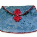 Silk Dragon Lotus Mala Bag – Turquoise